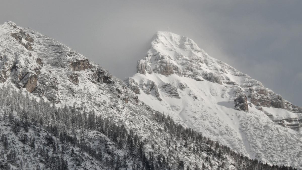 die Kohlbergspitze nach ergiebigen Schneefällen
