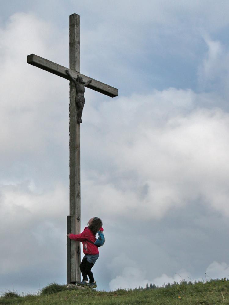 das Kreuz am Kopf nördlich der Hompessenalpe (Weberalpe)