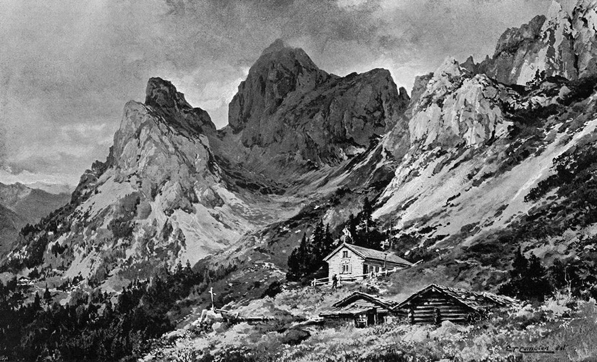 tannheimerhütte gimpelalpe flüh hochgimpelspitze compton