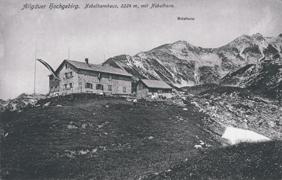 das Nebelhornhaus um etwa 1905