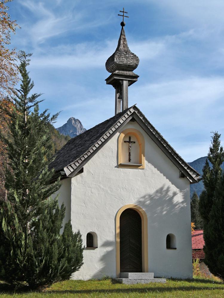 die kleine Kapelle Mariae Heimsuchung im Musauer Ortsteil Roßschläg