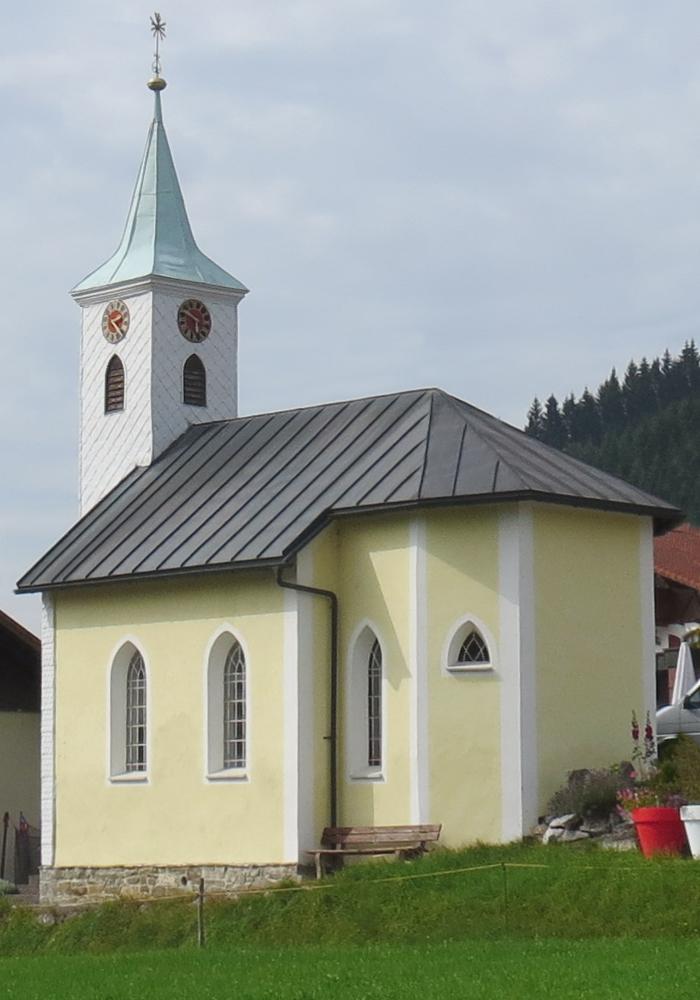 Ortskapelle hl. Peter und Paul in Langenschwand bei Jungholz - erbaut wohl um 1700