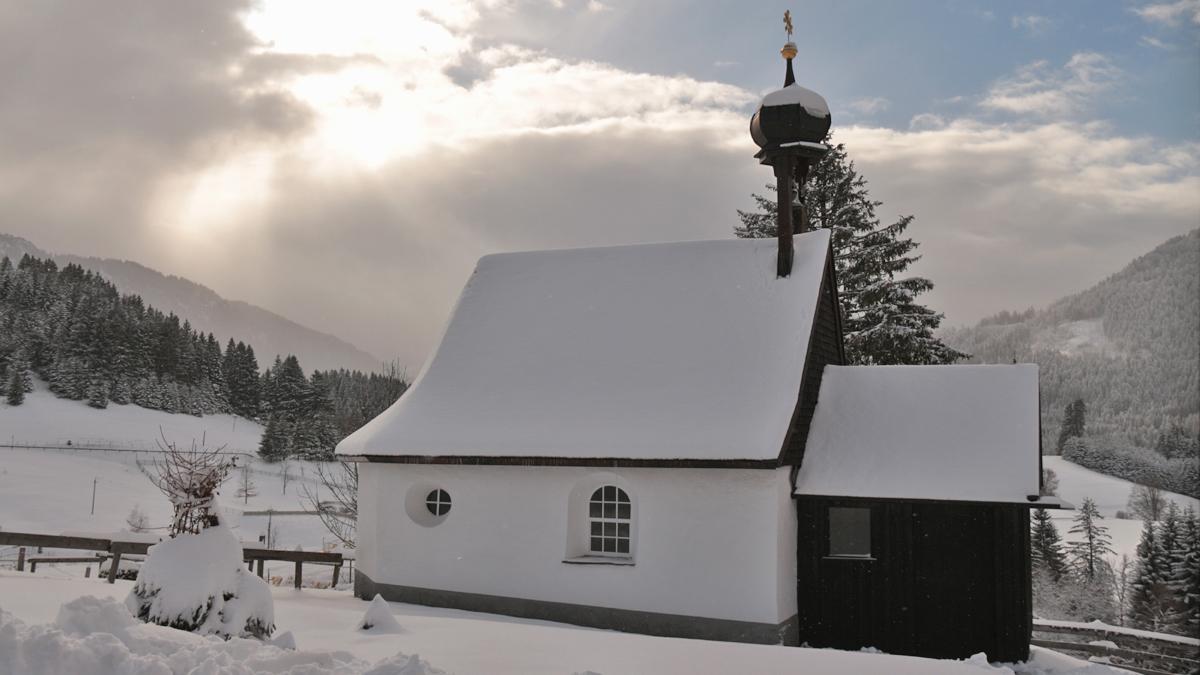 die Antoniuskapelle im Jungholzer Ortsteil Gießenschwand wurde etwa 1750 errichtet