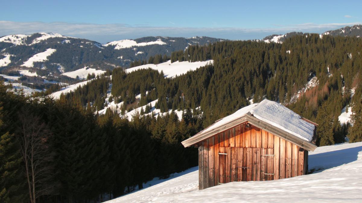 die kleine Hütte am Frickler Berg
