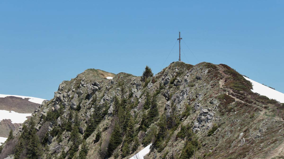 die letzten Meter zum Gipfel des Portlahorn