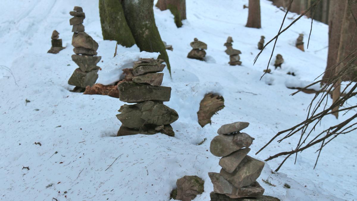 wohl eine schöne Tradition im Bereich Trauchberg und Halblech - Steinmännle - hier im Bereich des Schöffweges