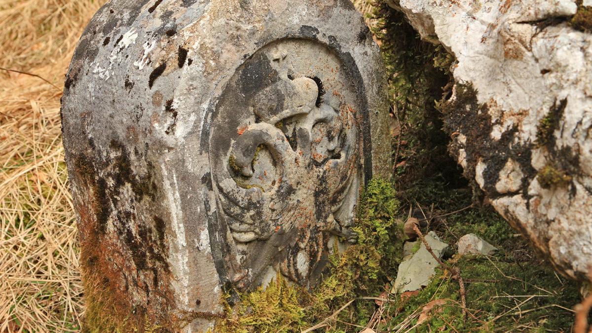 Grenzstein im Höllental