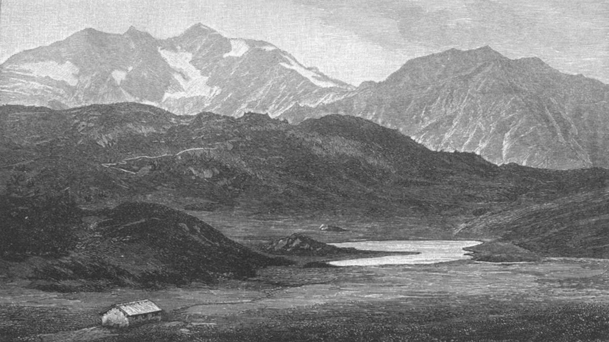 Blick vom Hochtannberg hinüber zu der Braunarlspitze - A. Niedermann 1888