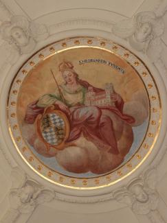 Hildegard als Stifterin des Kemptner Klosters