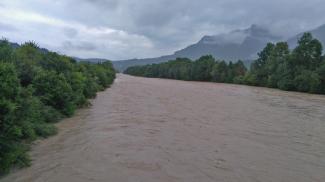 Lech bei Hochwasser