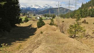 Hohlweg Via Claudia Augusta bei Heiterwang
