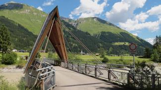 Radbrücke bei Untergrünau (Elbigenalp)