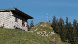 Hütte an der Alpspitze