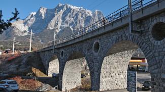 Eisenbahnviadukt bei Ehrwald