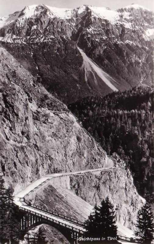 Gaichtpass mit alter Gemstalbrücke um etwa 1930