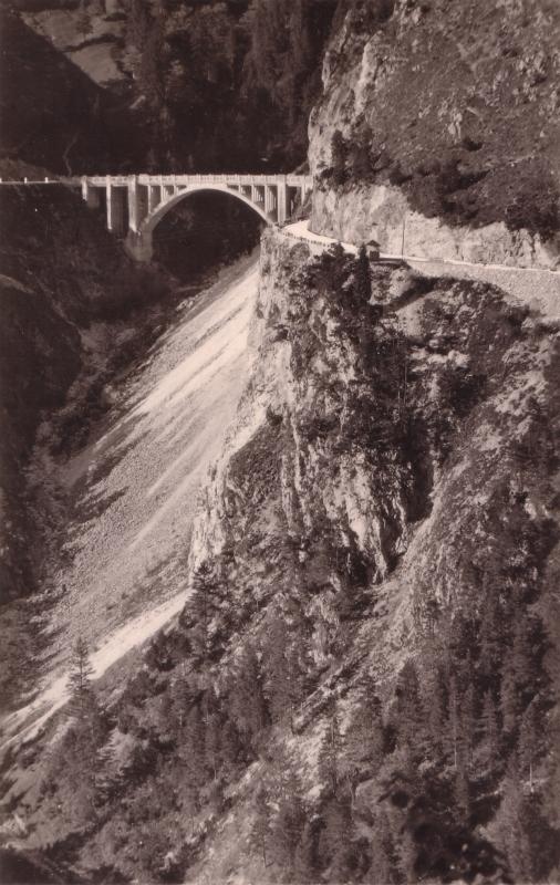 Gaichtpass mit Gemstalbrücke um ca. 1940