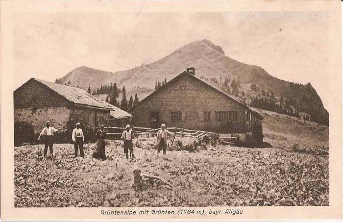 Grüntenalpe vor dem Grünten um ca. 1924