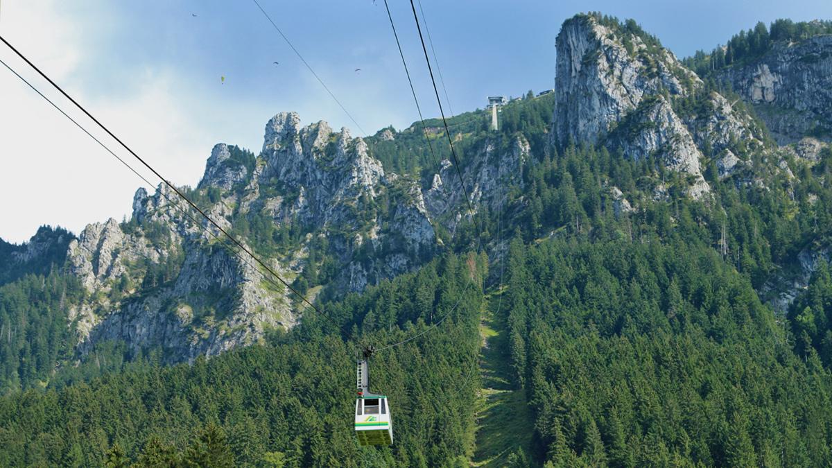 die Tegelbergbahn bei Schwangau