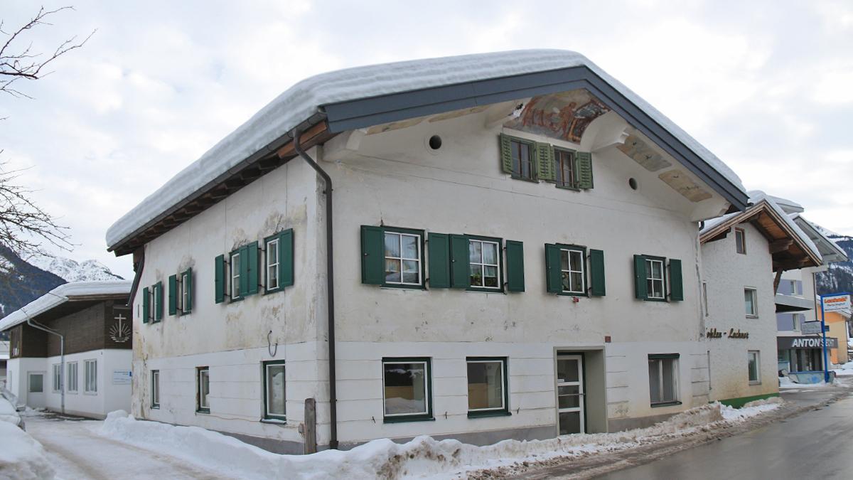 altes Haus in der Ehrenbergstraße in Reutte