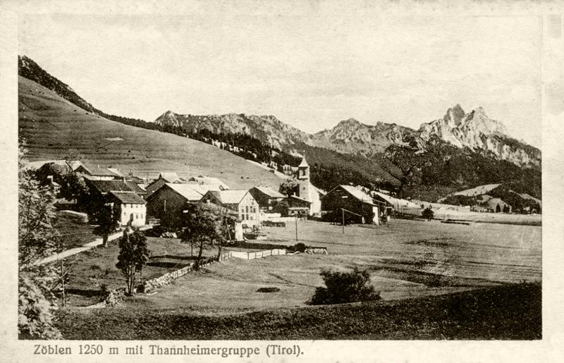 der Ort Zöblen mit der 'Thannheimergruppe' - ca. 1910