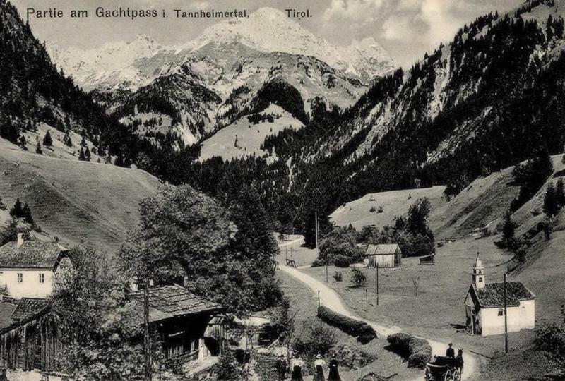 Partie am Gachtpass - die Stegmühle bei Gacht (Gaicht) um etwa 1900