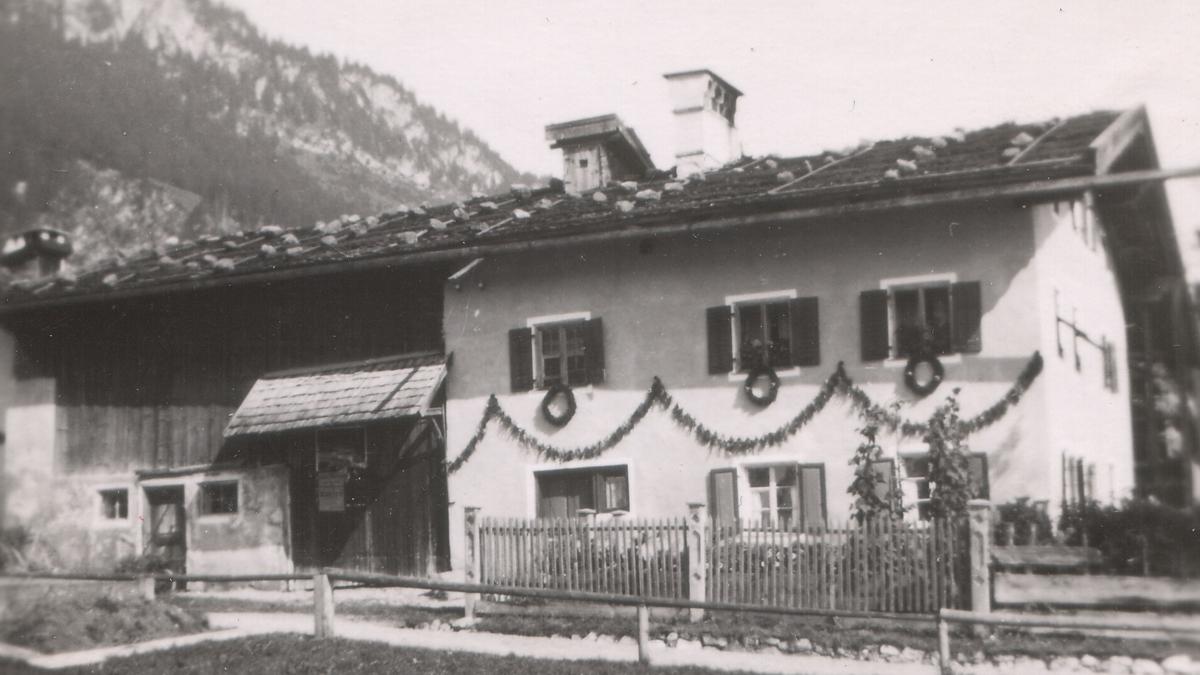 Bauernhof in Wängle - etwa 1940 - © Fritz Thurner