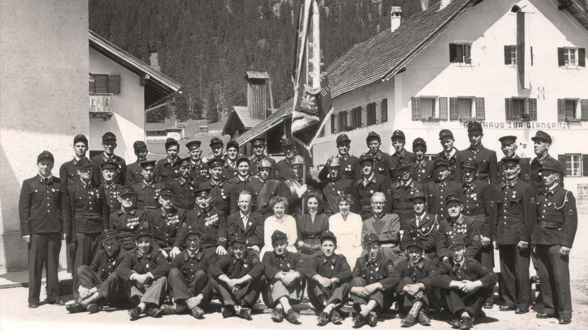 die Mannschaft der Wängler Feuerwehr um 1940 - © Fritz Thurner