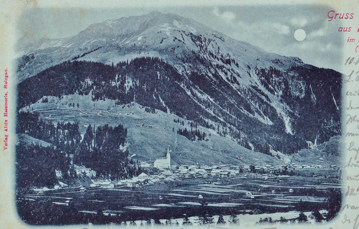 das alte Holzgau um 1900