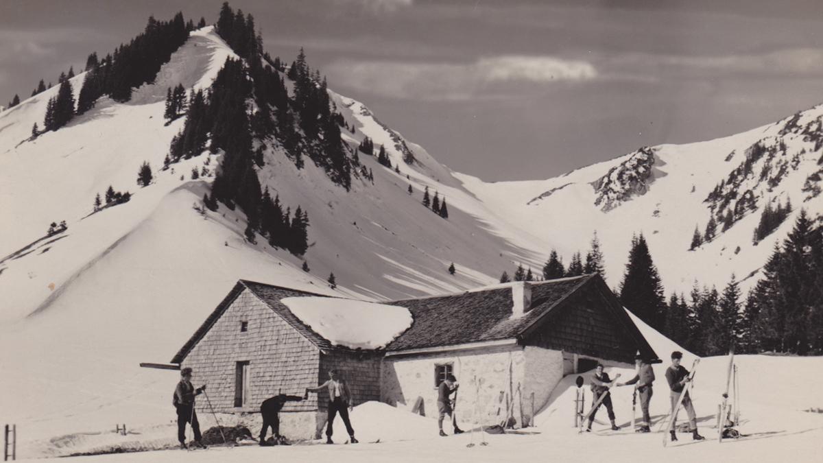 die Untere Stuibenalpe bei Schattwald - Foto: A. Gehring (1929)