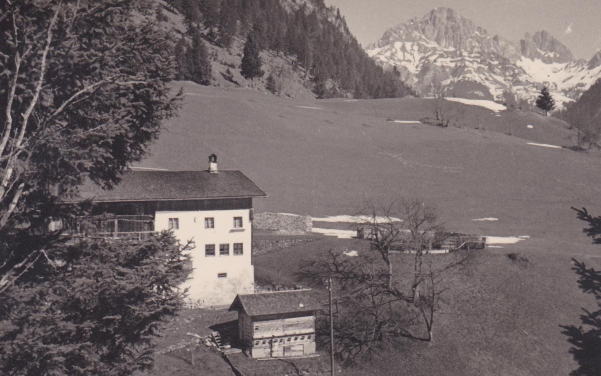 vermutlich das Haus Nr. 14 in Rauth bei Nesselwängle (1936)