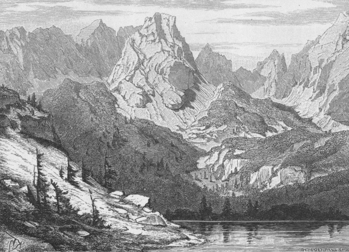 Der Seebensee im Mieminger Gebirge (Zeitschrift des D. u. ÖAV, 1887; K. Haushofer und A. Niedermann)