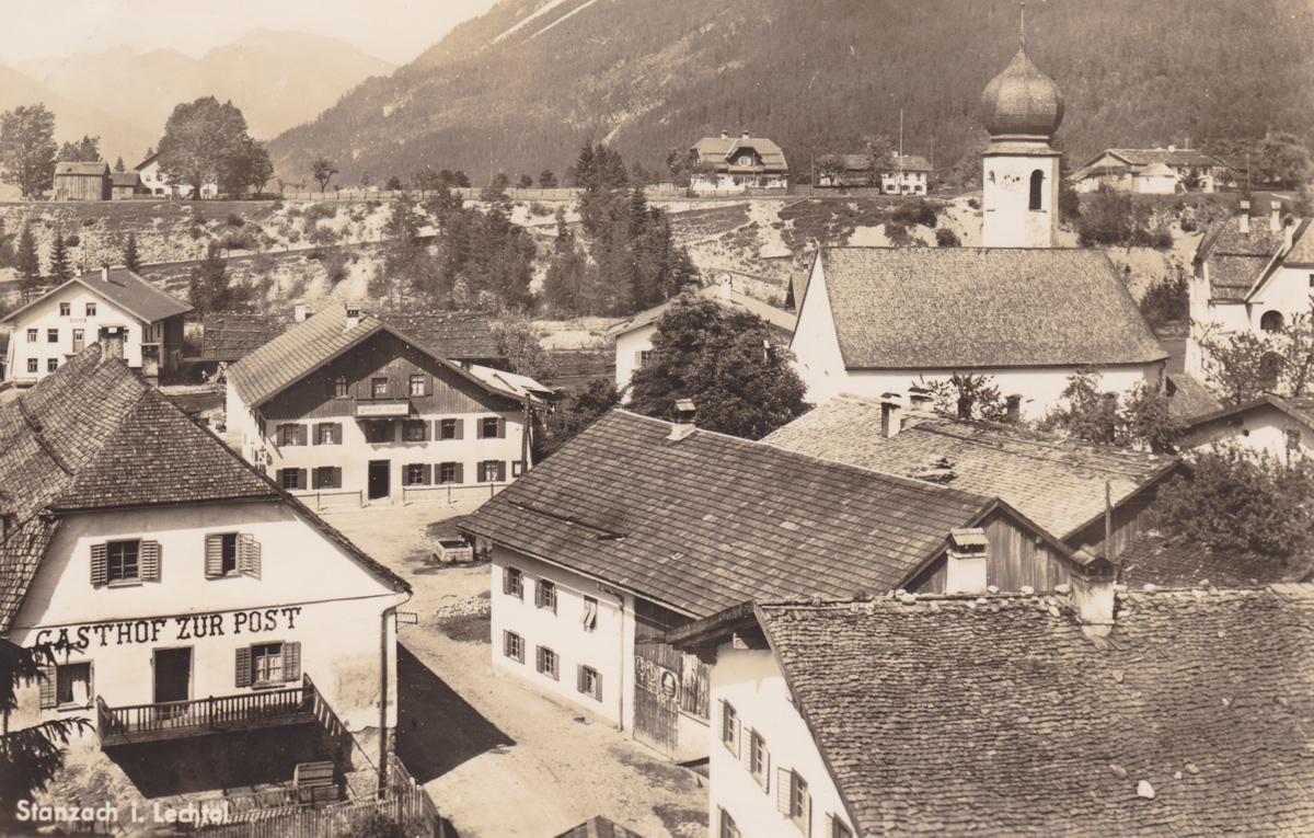 Stanzach im Lechtal - Foto Hugo Mauch - Karte gelaufen 1939