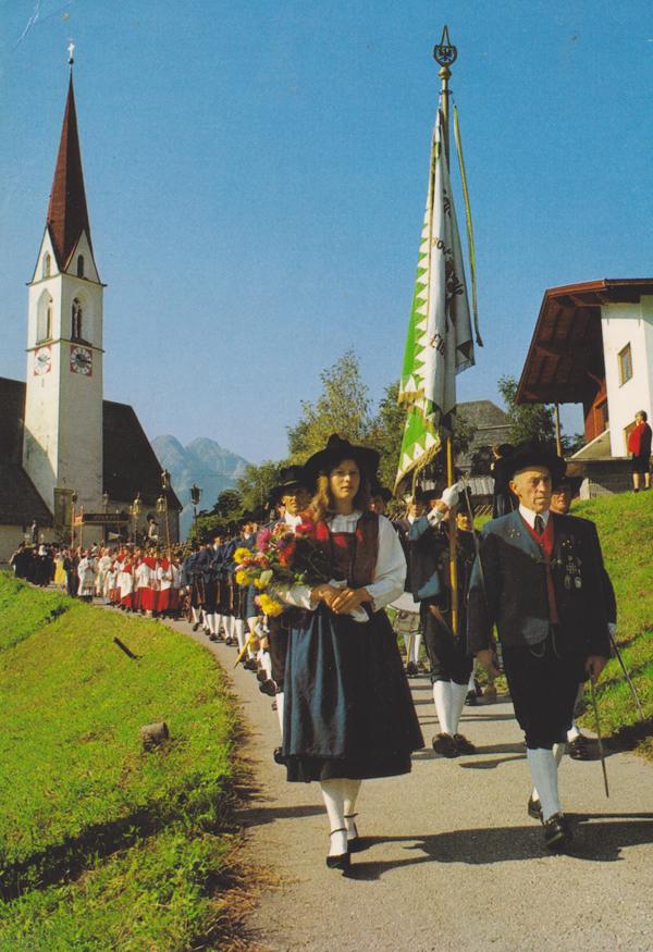 eine Prozession in Elbigenalp - Franz Milz Verlag - Mitte/Ende 80er Jahre?