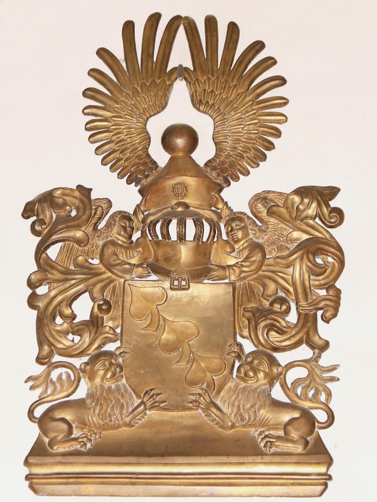 das kostbare Bronzeepitaph der Laubenberger stammt aus dem Jahr 1493