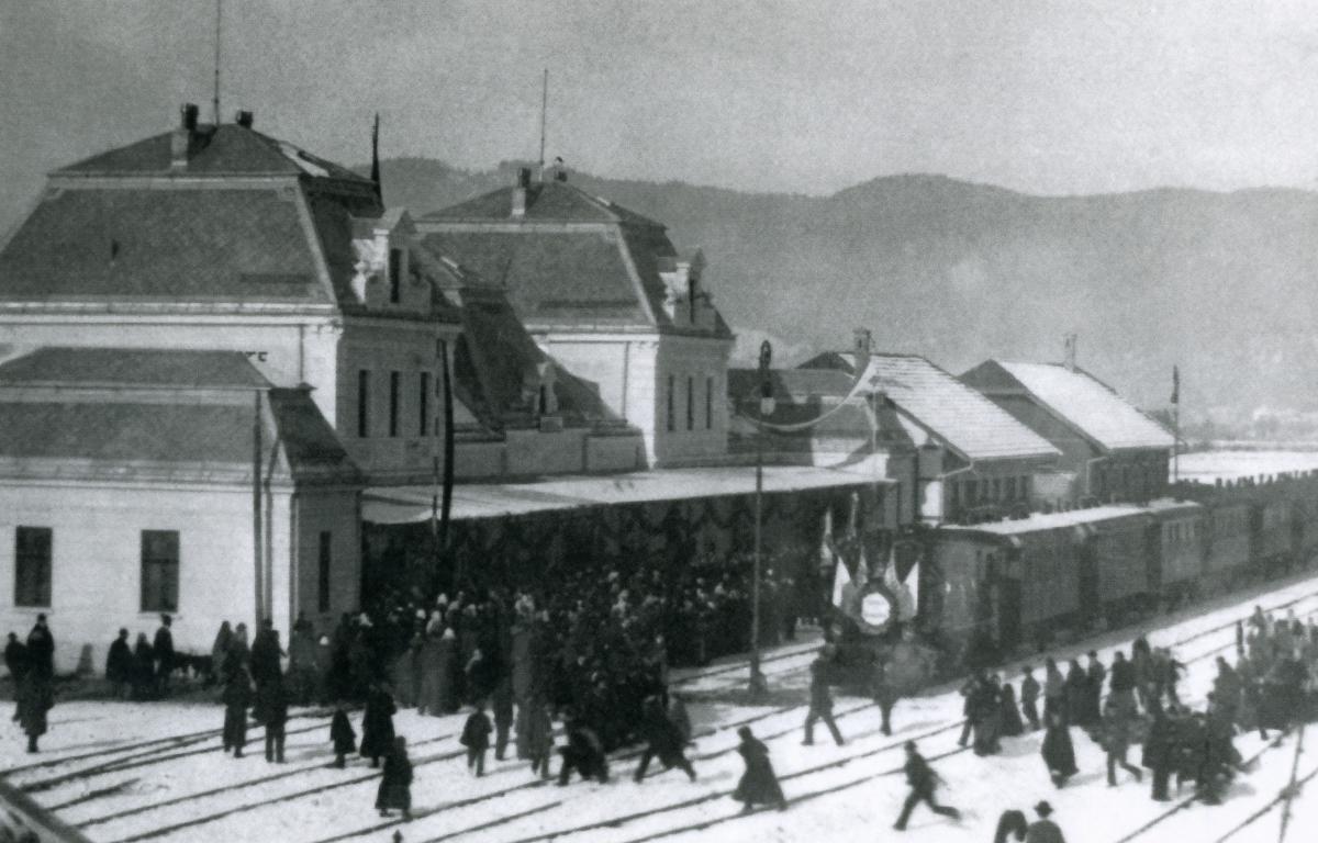 Eröffnung der Lokalbahn Pfronten-Schönbichl-Reutte im Jahr 1905