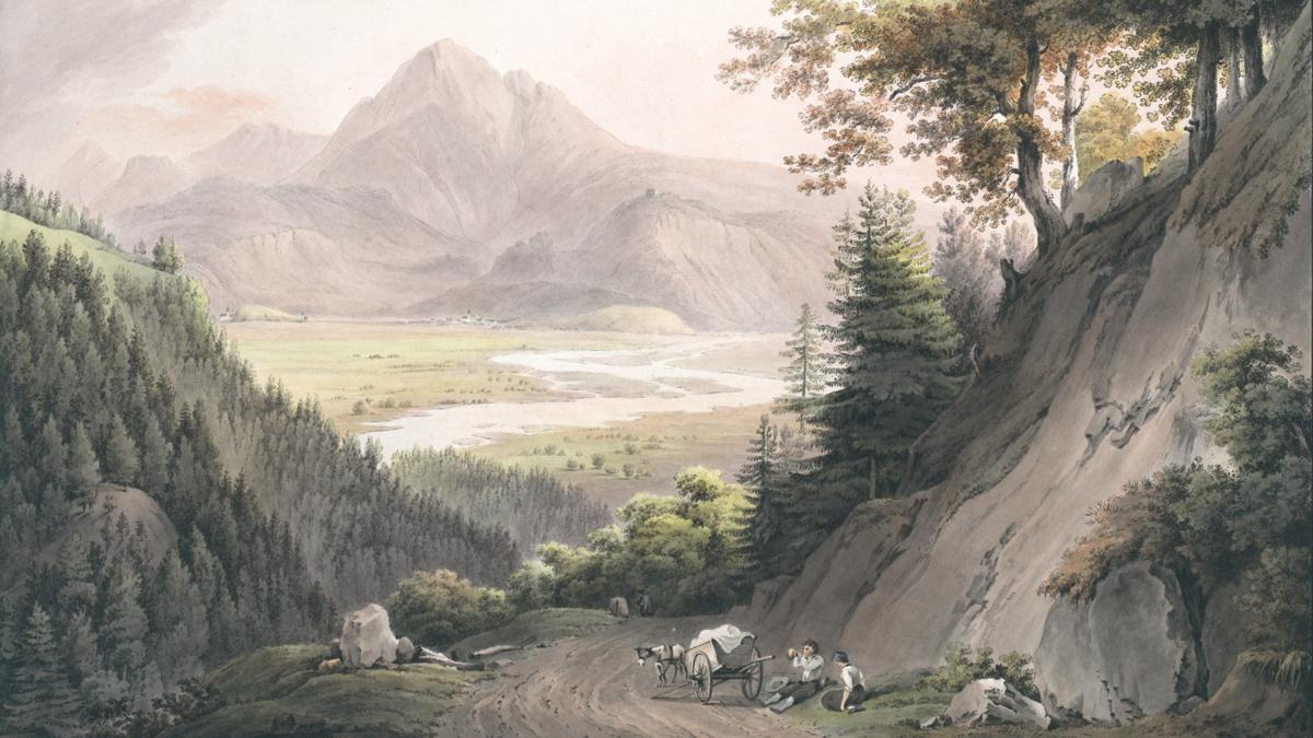 Reutti am Lechfluss - um 1800 - Martin von Molitor