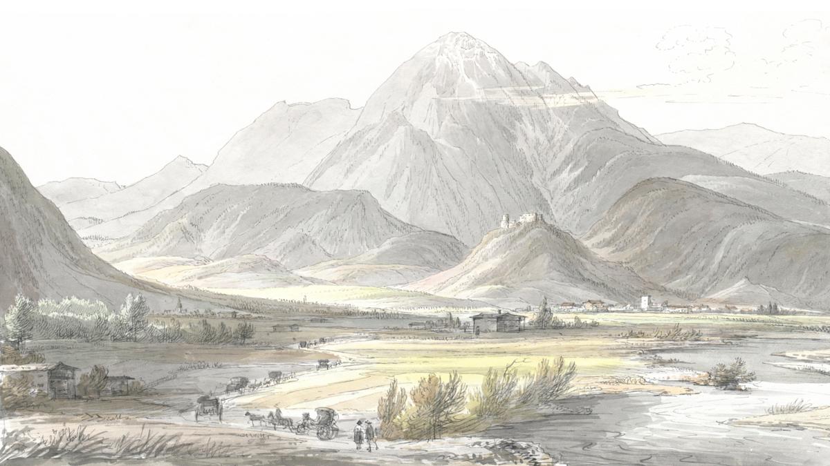 Paß bey Reitti in Tirol den 14 October früh 1815 - Jakob Alt