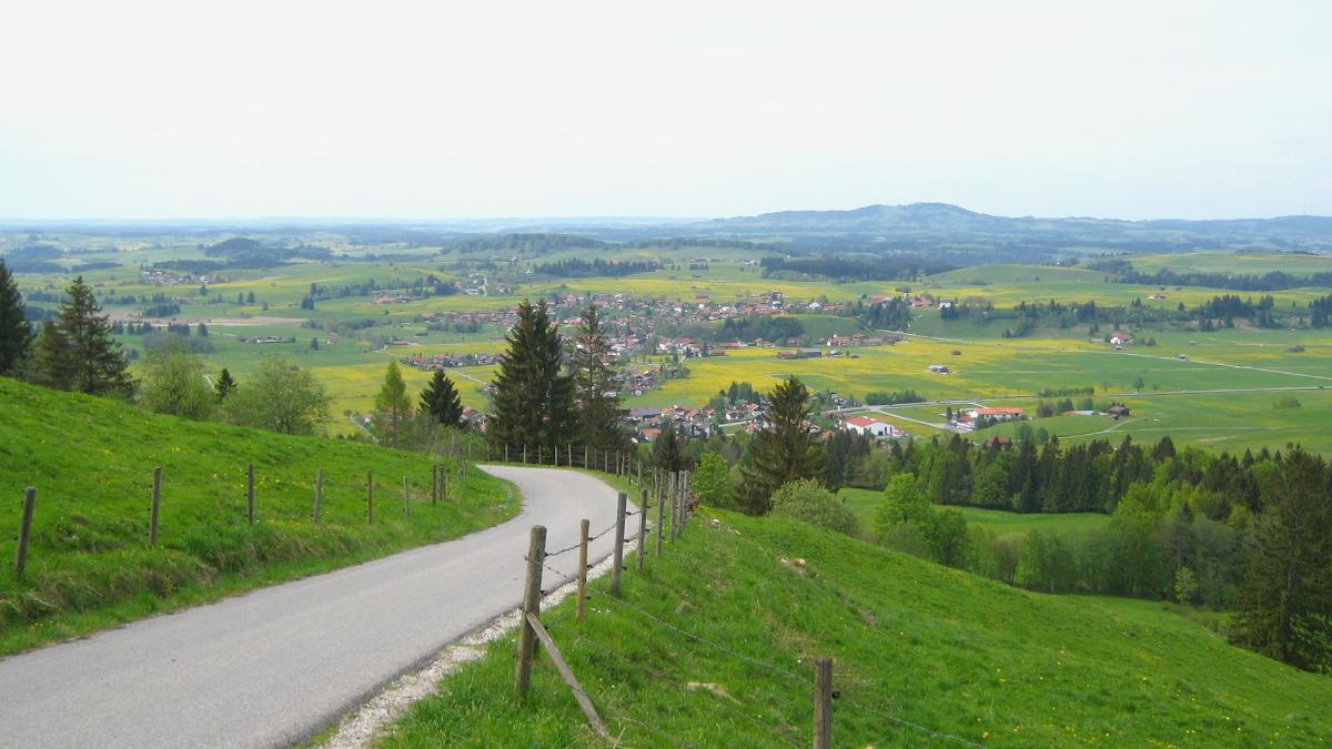 Abfahrt mit dem Mountainbike vom Buchenberg bei Buching