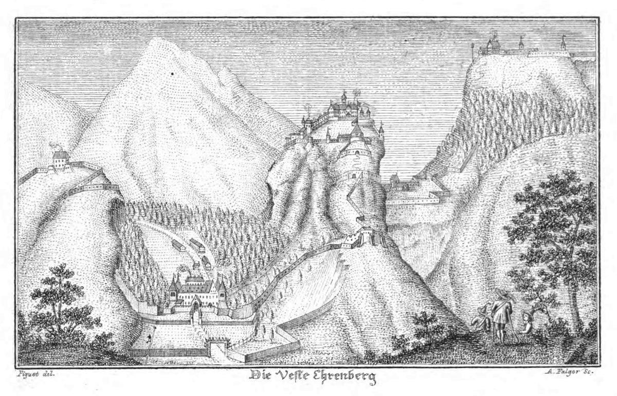 die 'Veste Ehrenberg' nach Anton Falger