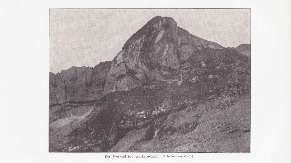 der Torkopf - aus dem Buch Allgäuer Alpen - Land und Leute von Max Förderreuther