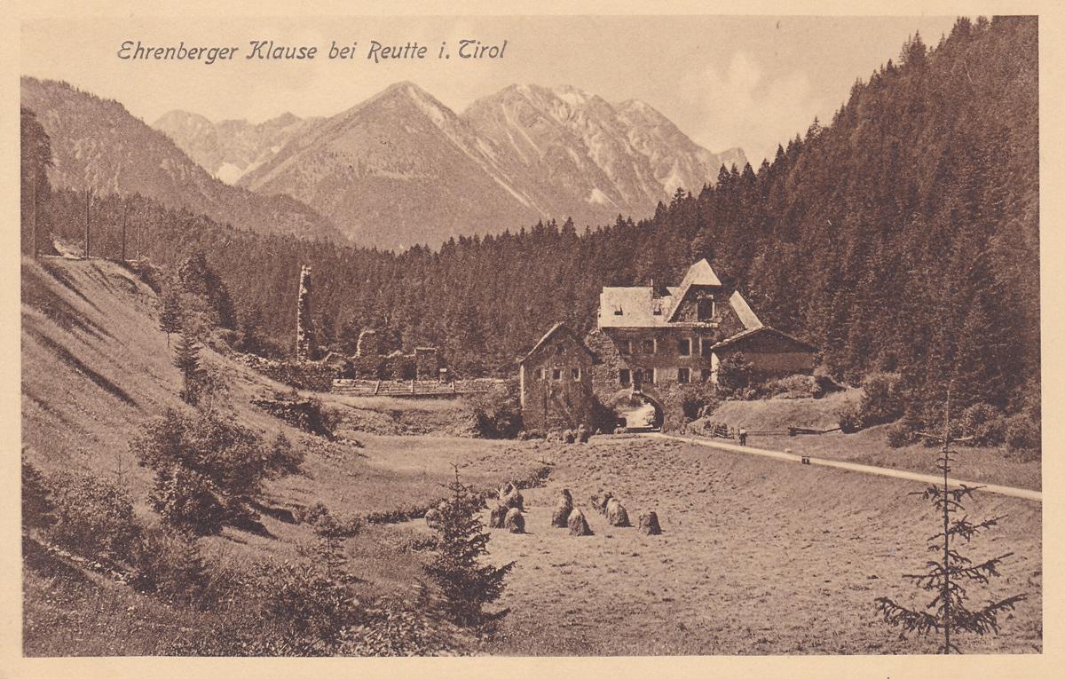 Ehrenberger Klause bei Reutte i. Tirol - Verlag J. Gruber, Füssen (um 1930)