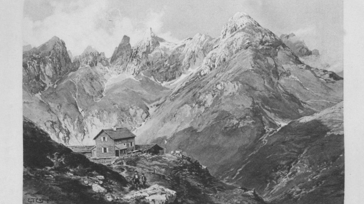 Kemptner Hütte - gez. von E. T. Compton (1894)