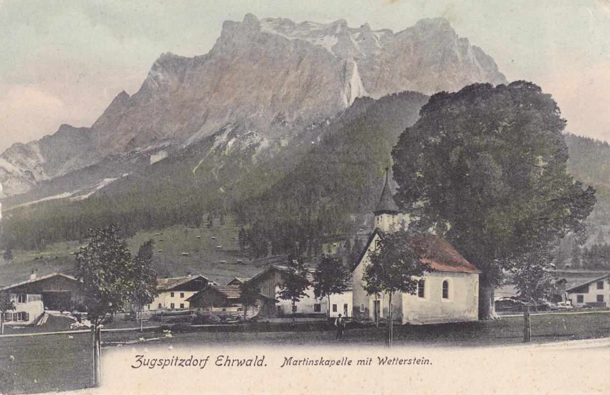 Zugspitzdorf Ehrwald - Martinskapelle mit Wetterstein