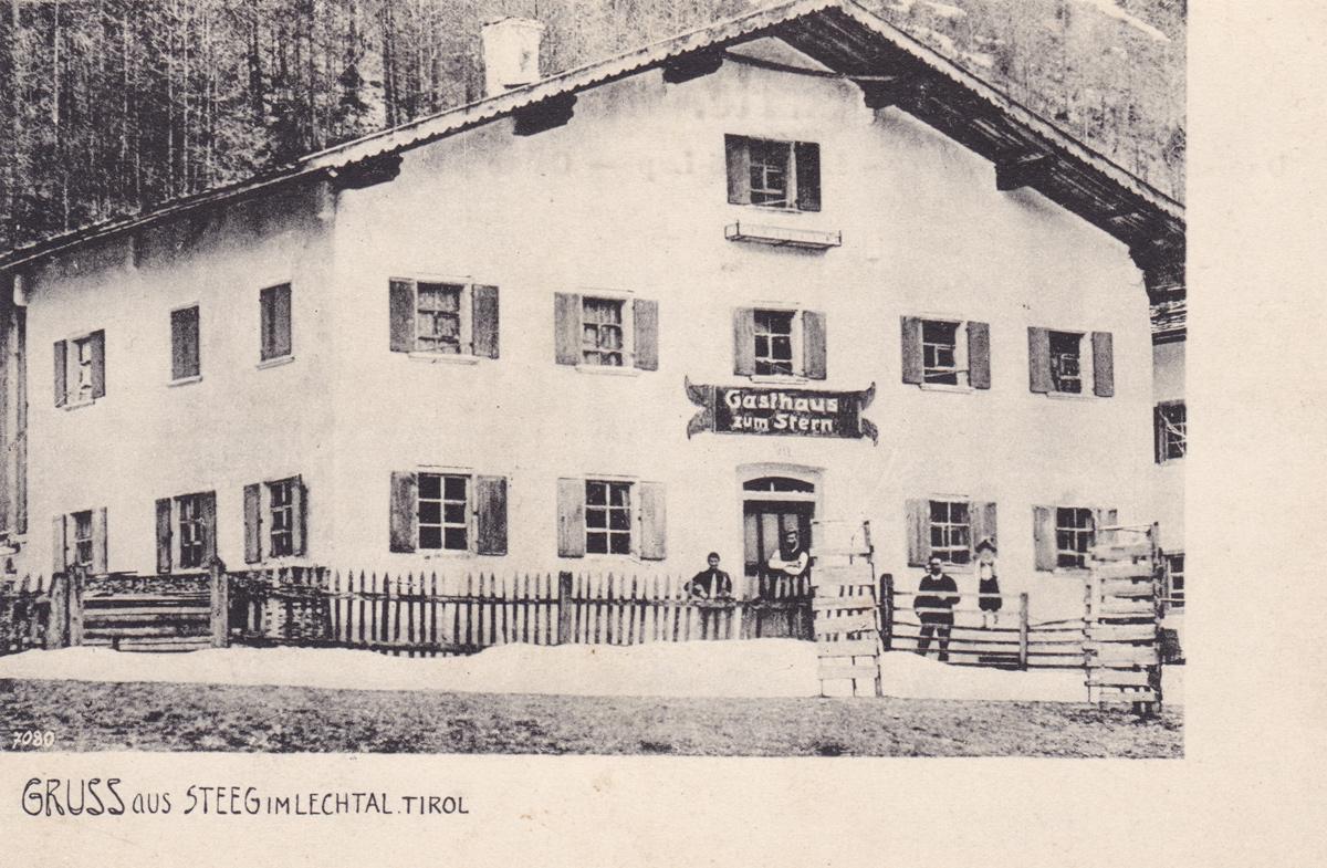 Gruss aus Steeg im Lechtal - Gasthaus zum Stern
