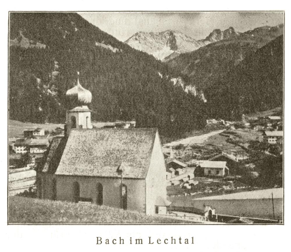 Blick auf Bach im Lechtal (Lend)
