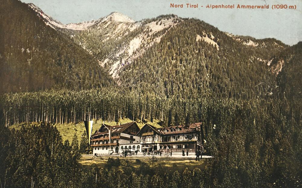 Ansicht des Alpenhotels Ammerwald um etwa 1910