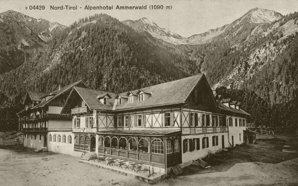 AK des Alpenhotels Ammerwald - etwa 1915