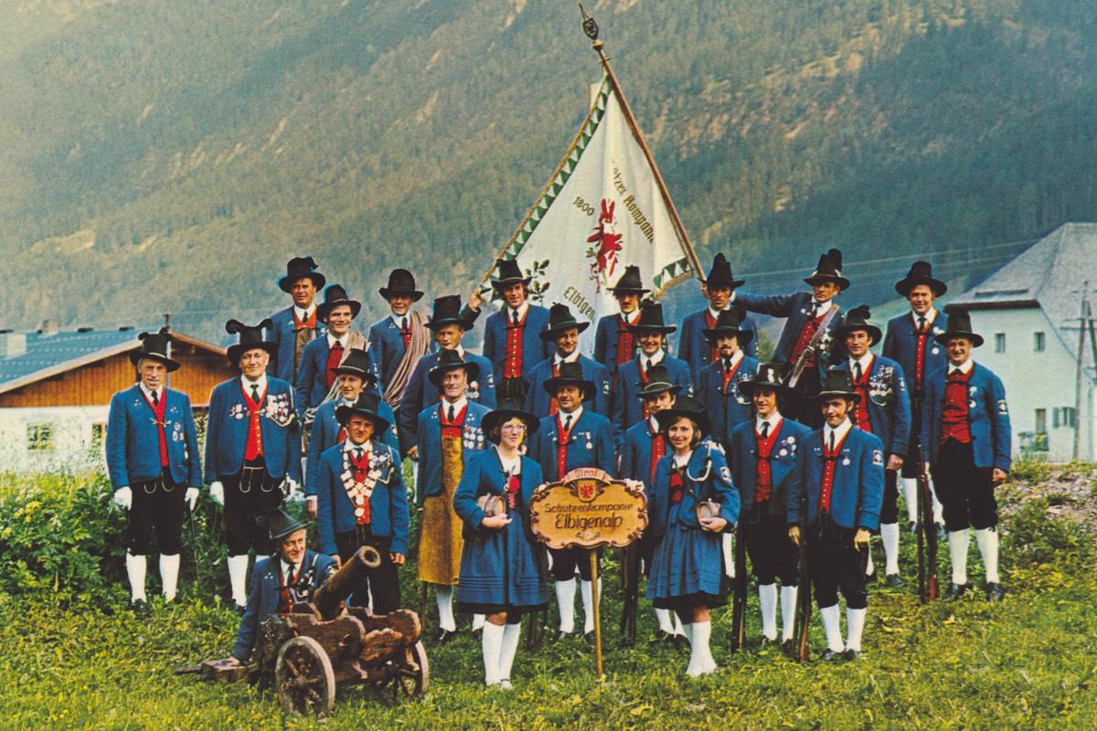 die Schützenkompanie Elbigenalp - etwa Ende 70er od. Anfang 80er Jahre - Kux und Lob