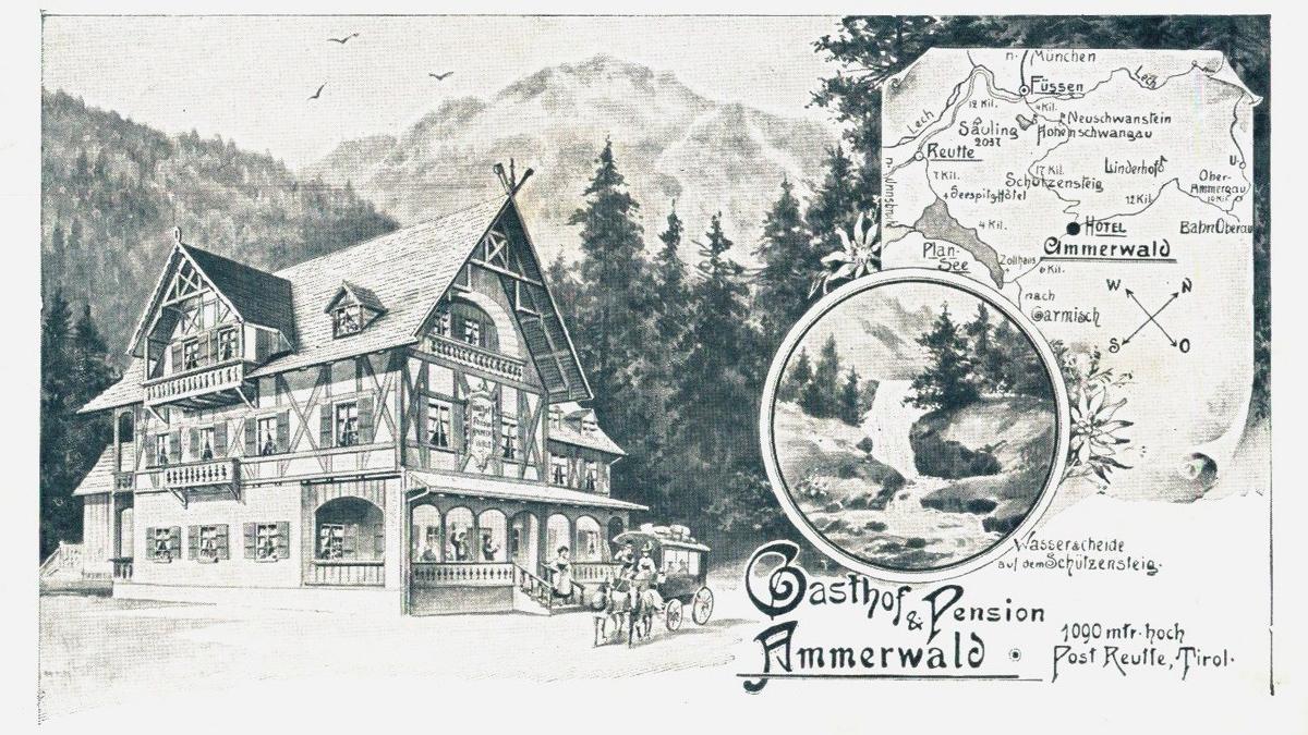 Prospekt des Gasthof Ammerwald um 1910