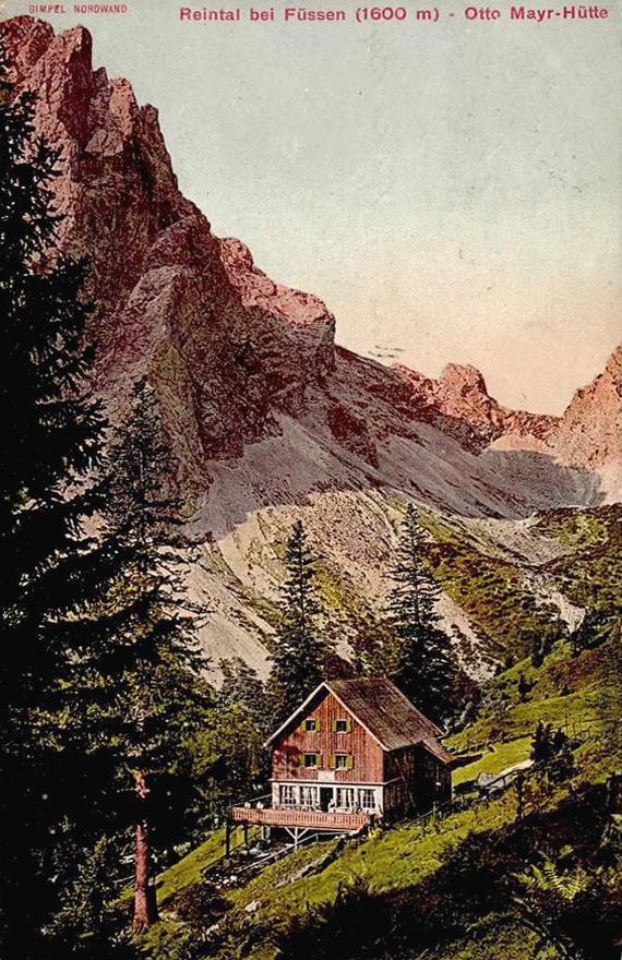 die Otto-Mayr-Hütte am Beginn des 20. Jahrhunderts